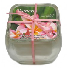 Glass Soy Candle - Plumeria - 10% off