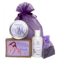 Gift Bag - Candle, Soap, Cream & Lavender Sachet