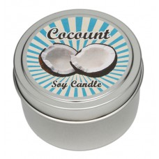 Candle Tin - Coconut - New!