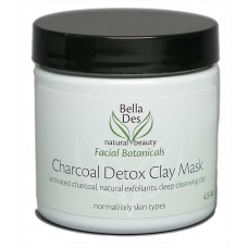 Facial Botanicals Charcoal Detox Clay Mask 4.5 oz. (all skin types) - NEW!