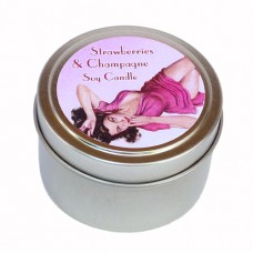 Candle Tin - Strawberries & Champagne