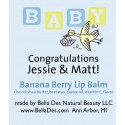 Personalized Lip Balm - Baby & Stork Label