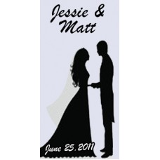 Personalized Hand Cream - Wedding Silhouette Label
