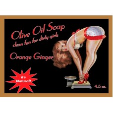 Orange Ginger Pin-up Girl Soap